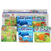 Cloth Book-Set of 3 for Baby Intellectual Development-Soft Fabric Printed Books for Kindergarten Preschool Learning Act