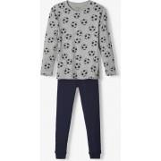 Name it Jongens Voetbal Pyjamaset - Grey Melange - Maat 110-116