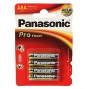 Baterie Alcalina Panasonic Pro Power Gold AAA (LR03) 1.5V, 4buc/blister