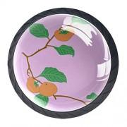 Desheze Pomos para cajón de Mountain Art, 4 unidades, con superficie de vidrio, elegante, redondos, para el hogar o la oficina, 3,17 x 3,05 cm, perilla, 1.381.10IN, 3