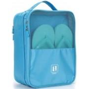 MegaDeal Waterproof Travelling Shoe Storage Bag/Footwear Organiser Pouch/Portable Shoes Storage Bag Travel Toiletry Kit(Blue)