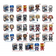Funko Pop Set Civil War Iron Man Capitan America Falcon Antman Black Panther