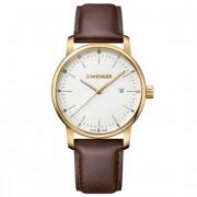 Wenger Urban Classic Reloj de cuarzo acero inoxidable white-brown