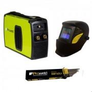 Pachet MMA-200PI + 5kg electrozi de 3,2, E6013 + masca automata YLM3200