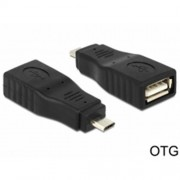 Delock adaptér USB micro-B samec > USB 2.0-A samica OTG, celý v puzdre