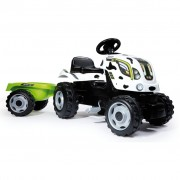 Smoby Kids Tractor and Trailer Farmer XL White and Black