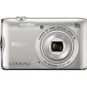 Aparat Foto Digital NIKON COOLPIX A300, Filmare HD, 20.1 MP, Zoom Optic 8x (Argintiu)