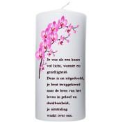 Rouwkaars - roze orchidee