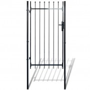 vidaXL Fence Gate with Spear Top (single) 100 x 150 cm