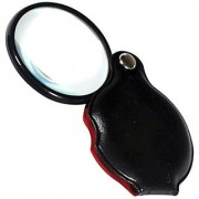 2 GLASS LENS JEWELERS LOUPEMAGNIFIER MAGNIFYING FOLDING POCKET