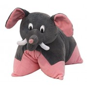 """Plush pillows for Kids - Fun Pillow """"Elephant"""" Pink and Grey 40cms - Plush Toys for Girls Boys"""