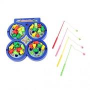 Generic Preschool Fishing Play Toy Set Kids Rotating Magnetic Magnet Music Fun Game