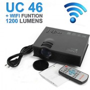 UNIC UC46 LED Wifi Projector HD 1080p-HDMI/SDCard/AV/USB 1200LM Support DLNA/ Airplay/ Airmirror/Miracast