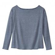 Linnenjersey-shirt, nachtblauw 36/38