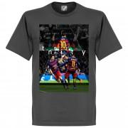 Retake Barcelona The Holy Trinity T-Shirt - dunkelgrau - M