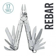 Leatherman Rebar Multi-Tool, Stainless Steel with Leather Sheath