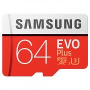 Card Memorie Micro SDXC 64GB Evo Plus + Adaptor SAMSUNG
