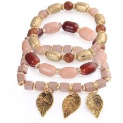 Om Jewells Stylish Multi Layer Charms Bracelet made with Exotic Beads for Girls and Women BR1000018PIN