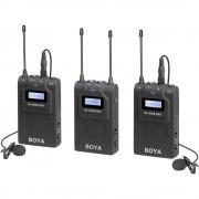 Boya BY-WM8 PRO-K2 Linie Wireless UHF cu Microfon Lavaliera (TX+TX+RX)