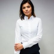 Női fehér ing Willsoor sima pöttyös 10103