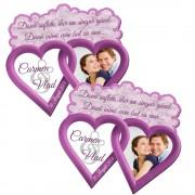 Magneti marturii nunta, forma doua inimi