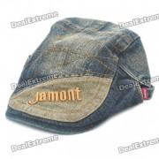 Vintage Denim Fabric Jean Cap Hat con el patron de Jamont