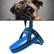 Honden A7 reflecterende Polyester borst harnas Lead leiband tractie grote honden keten touw borgkraag maat: XS 2.0 * 42 * 50 cm (blauw)
