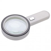 Extra Large 20X Magnifying Glass with 12 Bright LED Lights,XYK Handheld Lighted Magnifier for Reading,Inspection,Exploring,Hobbies and More (White)