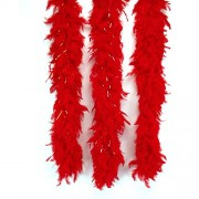 """Loftus International Star Power Gold Tinsel Long Fluffy Feather Boa, Red/Gold, One Size/72"""""""