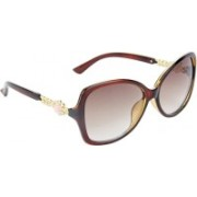 Redleaf Over-sized Sunglasses(Brown)