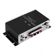 Vbestlife LP-A7USB Amplificador Alimentado, Altavoz de Audio AMP, estéreo de Alta fidelidad USB Digital 2 Canales de Salida Amplificador de Potencia con Tarjeta SD/MMC/Entrada USB/Conectar a DV