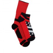 Soxytoes Multi-Coloured Cotton Ankle Length Pack of 2 Pairs Unisex Casual Socks (SOSN0119)