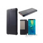Husa piele artificiala Gigapack S-View Cover pentru Huawei Mate 20 Pro, negru