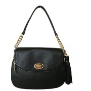 Michael Kors Bedford Medium Tassel Crossbody Leather Bag - Black