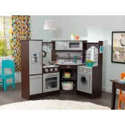 Bucatarie Ultimate Corner Play Kitchen Espresso - KidKraft