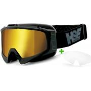 HSE SportEyes HSE Sport Eyes 2305 + Zusatzscheibe Goggle Schwarz Gelb Einheitsgröße