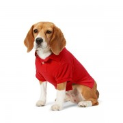 Ralph Lauren Pet Big Pony Mesh Dog Polo Shirt - Red - Size: Extra Small