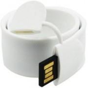 Eshop Genuine PVC Bracelet Shaped Slap Wrist Band USB Flash Drive 16 GB Pen Drive(White)