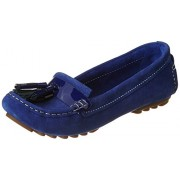 Clarks Women's Electric Blue Leather Loafers - 3.5 UK/India (36 EU)