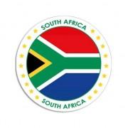 Bellatio Decorations Zuid-Afrika sticker rond 14,8 cm