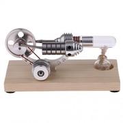 Phenovo Wood Base Stirling Engine Generator Model Motor Children Physics Science Toy