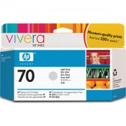 HP 70 130 ml Light Grey Ink Cartridge with Vivera Ink, HP Designjet Z2100, Z3100 - C9451A
