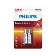 Philips LR03P2B/10 - 2 buc Baterie alcalina AAA POWER ALKALINE 1,5V