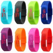 Snaptic Rectangle Dial Multicolor Silicone Strap Unisex Automatic Watch
