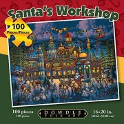 Jigsaw Puzzle - Santas Workshop 100 Pc By Dowdle Folk Art