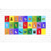 Gallery SI Limited t/a Colour House £12 instead of £44.99 for a kid's animal alphabet canvas from Gallery SI Limited t/a Colour House - save 73%
