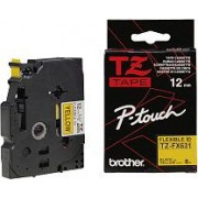 Bandă laminată/flexi id Brother TZFX631, 8m/12mm negru/galben