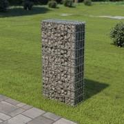 vidaXL Perete gabion cu capace, 50 x 20 x 100 cm, oțel galvanizat