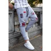 Pantaloni cu tur lasat P5210 Gri