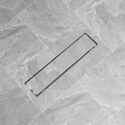 vidaXL Rovný sprchový odtok, 530x140 mm, nerezová oceľ